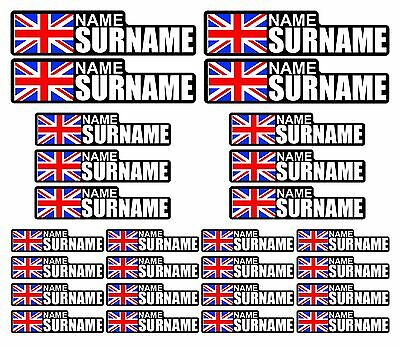 28 x Personalised Name Stickers Bike Frame Helmet Decals Cycle MTB Cycling