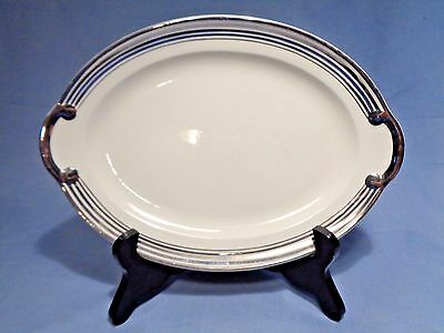 "TAYLOR SMITH TAYLOR 11-1/2"" OVAL Serving Platter PLATINUM 5 RING"