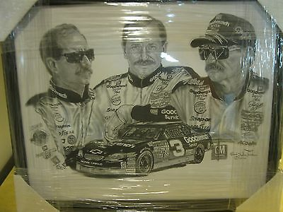 Dale Earnhardt Lithograph Autographed by Robert Stephen Simon