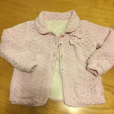 Baby Girls Fleece Lined Cardigan 12-18 Months