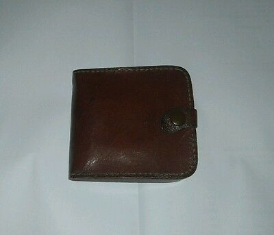 New mens brown red leather wallet