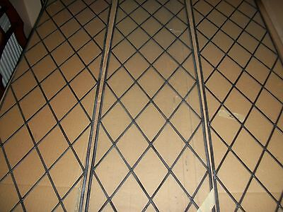 3 Leaded Window Panels, Excellent Condition. Never used!