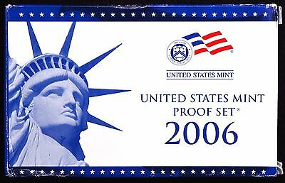 2006 United States 10 Coin Complete Proof Set with Box and COA