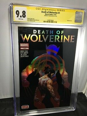 CGC SS 9.8 DEATH OF WOLVERINE #1 HOLOFOIL 1st PRINT SIGNED STAN LEE MOVIE LOGAN