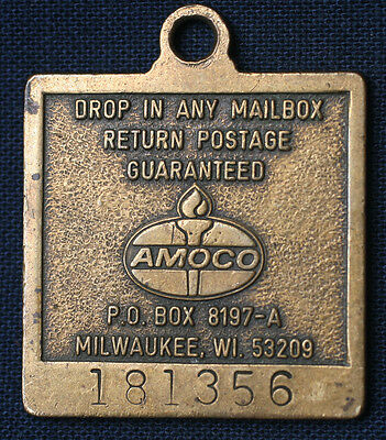 1976 Amoco Oil Company American Bicentennial Liberty Bell Key Postage Mailer Tag