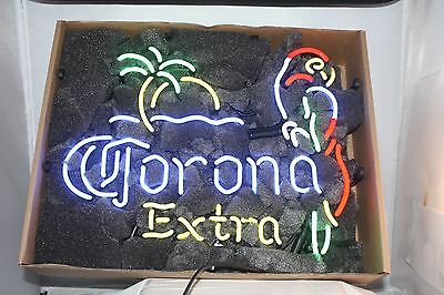 NEW CORNOA EXTRA PARROT LEFT PALM BEER NEON SIGN **Free Shipping**