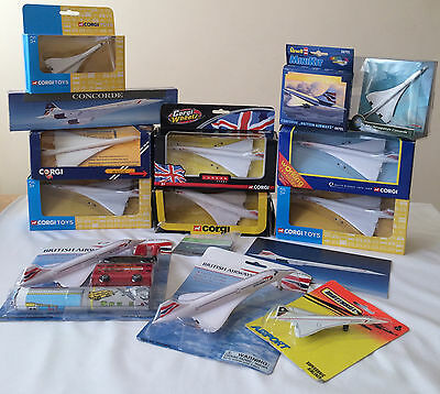 Corgi Diecast British Airways Concorde Models and Collectables Bundle 15 items