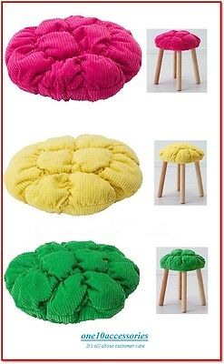 IKEA-STICKAT-Stool-seat-COVER-Yellow-Pink-Green