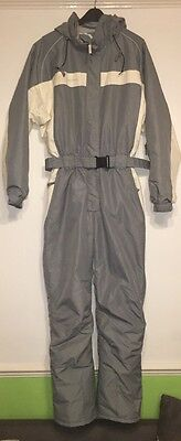 QUECHUA Decathlon vINTAGE womens SKI SNOW SUIT onesie size 10- 12all in one