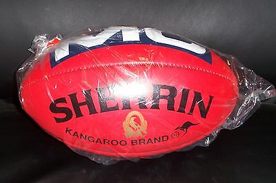 Sherrin Kb Full Size Red Leather Football - Collingwood F C