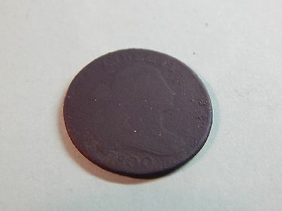 1800 Large Cent US Draped Bust ONE CENT excavated