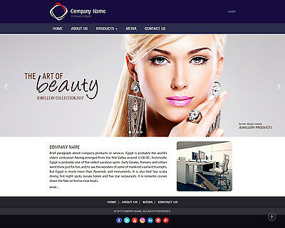 Website Package ( Responsive + Admin Panel + Host + Domain + Email Accounts )