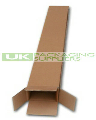"""5 CARDBOARD PACKING BOXES FOR GOLF CLUBS SIZE 5 x 4 x 49"""" SHIPPING POSTAL NEW"""