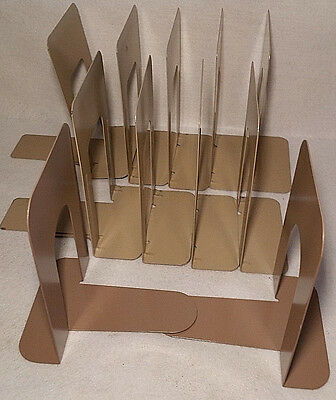 Lot of 11 Metal Book Ends Stops