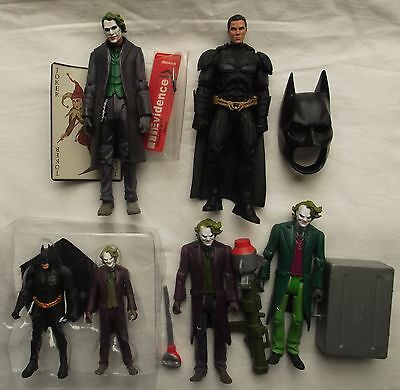 Mattel The Dark Knight Four loose Joker and Batman Action figures Chase figure