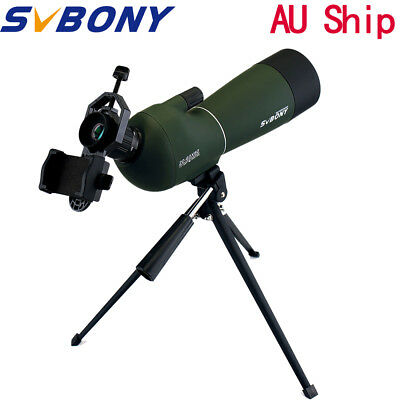 20-60x60mm Zoom Spotting Scope Waterproof+Tripod+Cell Phone Mount Adapter AU New