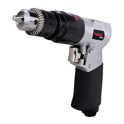 PowRyte Basic 3/8 In Pneumatic Reversible Air Drill with Keyed Chuck & Key