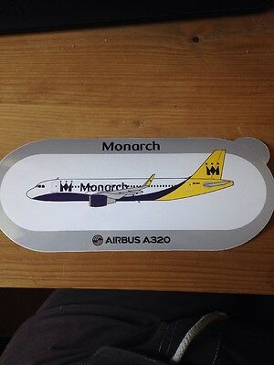 Monarch Airlines Airbus A320 Sharklets Airliner Sticker