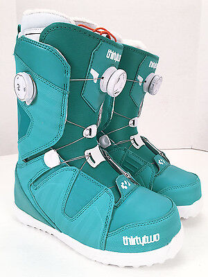 NEW Thirtytwo BINARY BOA 2015 Womens Snowboard Boots Blue Teal White size 7 or 8
