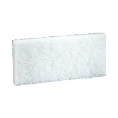 3M Commercial 8440 4-5/8 Inc x 10 Inch White Cleaning Pad - Quantity 5