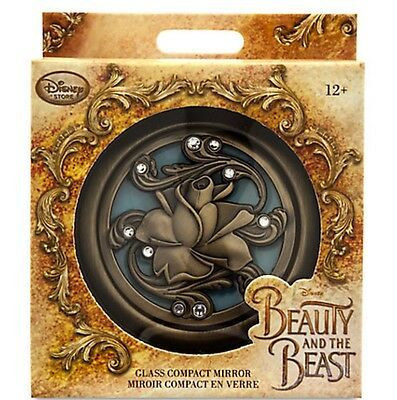 Brand New Disney Offical Beauty & The Beast Live Action Glass Compact Mirror