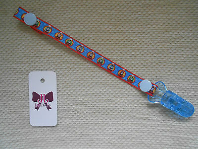 Reborn Baby Doll Dummy/Pacifier Clip made with Thomas The Tank Ribbon, FREE P&P