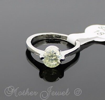 Great Gift Yellow Tint Cz Silver Sp Ladies Girls Cocktail Dress Ring Size 7.5