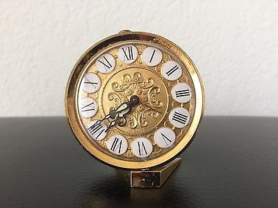 Vintage Imhof Swiss Clock 8 Jewels With Alarm. 100% Working Condition.