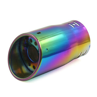 Colorful Stainless Steel Modified Silencer Pipe Tail Exhaust Muffler Tip for Car