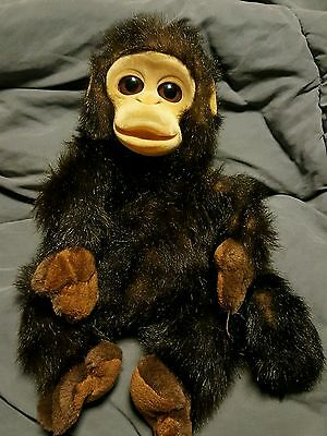 """12"""" Animal Alley baby Monkey Hand Puppet realistic face and soft plush."""