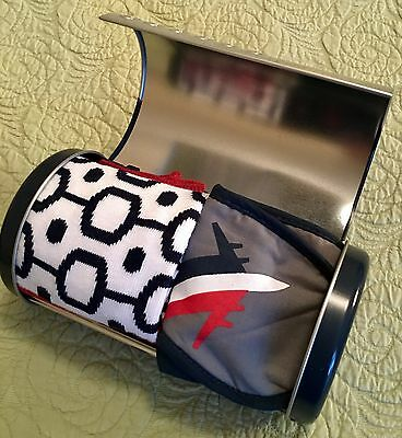 United Airlines Business/First Class Amenity Kit  USA Special Edition Dented Tin