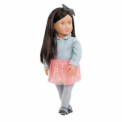 """New Our Generation ELYSE 18"""" Doll Green Eyes fits American Girl Grace Thomas"""