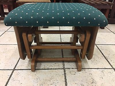 Rocking Foot Stool with Padded Seat