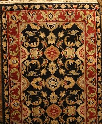 "Kashan Design Runner, Floral Motif, Hand-Knotted Wool,2'7""x8'1"",Hand Woven-India"