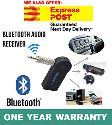Wireless Bluetooth Receiver 3.5mm AUX Audio Stereo Music Home Car Adapter V 3.0