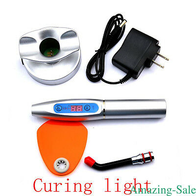 Silver Dental Wireless Cordless LED Cure Curing Light 1500mw Tool for Dentist AM