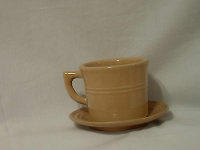 Monmouth Usa Pottery 1930's Cup And Saucer Shinny Glaze