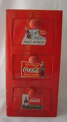 Coca-Cola Tin With Three Drawers Various Designs