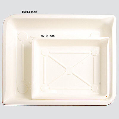 2x DEVELOPING Chemical TRAYS Dish 10x14 for Darkroom Photographic Films Studio a