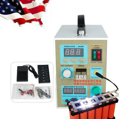 NEW LED Dual Pulse Spot Welder Machine Battery Charger 800A 0.1-0.2mm Fast Ship