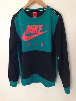 Men's Nike Sweater, Green And Black, Size M