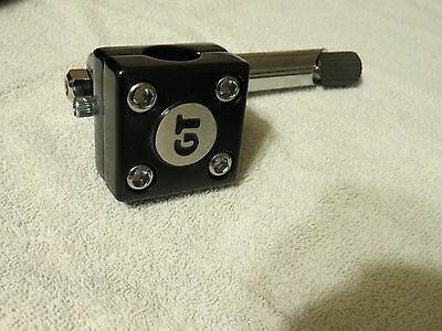 GT MALLET STEM BLACK BMX 1980s REPRO FREESTYLE PERFORMER PRO WORLD TOUR NECK
