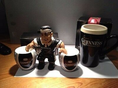 Guinness Collectable. Pair Boxed Egg Cups Unused & Unused boxed Mug With Player