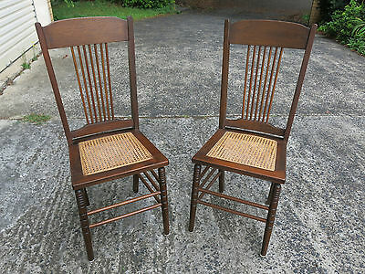 Timber and Cane Handmade Chairs x 6