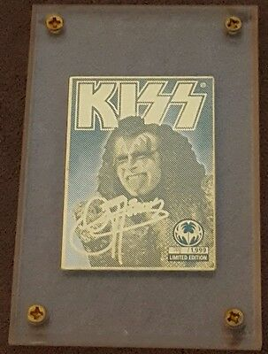 KISS Gene Simmons Mini 24k Gold Collectible Card Rare Production Proof number 8!