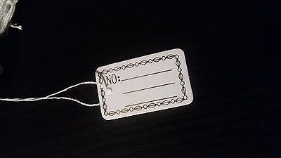 100 Pcs Label Tie String  For Jewelry Merchandise Gold Color Price Tags