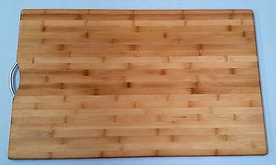 Large Chef Kitchen Chopping Board 50 x 80 cm Cut Cutting Carbonized Bamboo