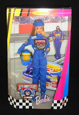 1998 50th Anniversary NASCAR Barbie Loves Sports Collector Edition Doll #20442