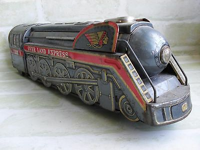 RARE VINTAGE 60's - OVER LAND EXPRESS 3140 LOCO TIN TOY TRAIN - NOT WORKING