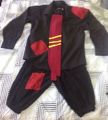 Girls Black And Red School Kid Jazz Dance Costume Size 10